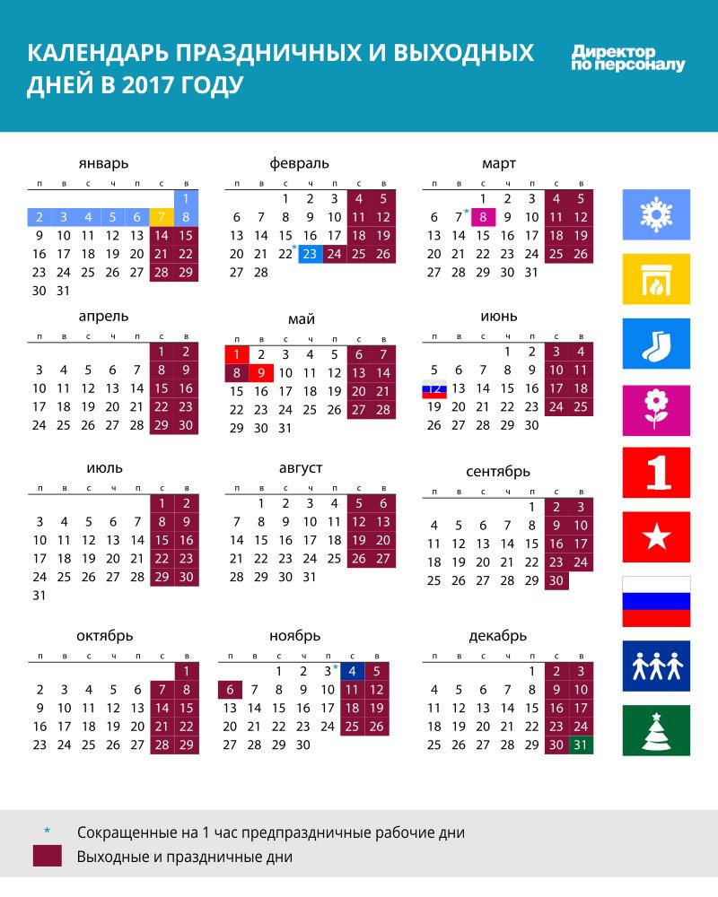 Правительство утвердило перенос выходных дней в 2017 году